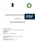 Burkina - Rapport alternatif FIDH MBDHP - Juin 2016