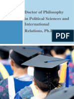 Doctor of Philosophy in Political Sciences and Nternational,Phd