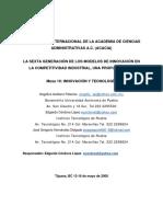 Modelos de Innovacion en Competitividad Industrial