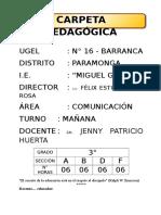 CARPETA PEDAGÓGICA-2013