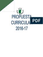 Propuesta Curricular 2016-17