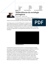 Ambivalências Da Sociologia Portuguesa - PÚBLICO