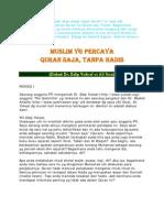 Dapatkah Quran Exist Tanpa Hadis
