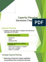 6 Capacity Planning-Ch 5 (Stevenson)