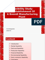 Feasibility Study  on Establishment Of  A Boondi Manufacturing Plant