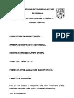 Carpeta de Evididencia Administración de Personal