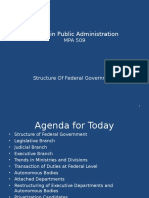 Lecture 22 Structure of Federal Govt
