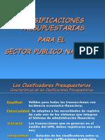 4.1 Clasificadores Presupuestarios