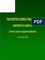 Convegni BSC'03 Lezionebcg