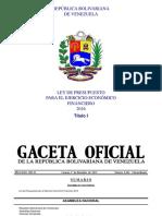 Ley de Presupuesto 2016 Título I