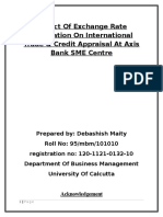 Project- A Study on the Impact of Foreign Exchange Fluctuation on International Trade