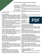 folheto de cantos - missas 08-12-2016