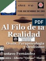 Bbltk-m.a.o. R-120 Al Filo de La Realidad 2001.12.09 Año II Nº063 Afr - Vicufo