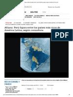 Perú Entre Los Países Más Ricos de América Latina