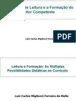 Estratégias de Leitura e a Formação Do Leitor
