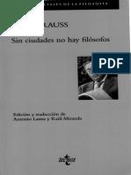 Strauss Leo - Sin ciudades no hay filósofos.pdf