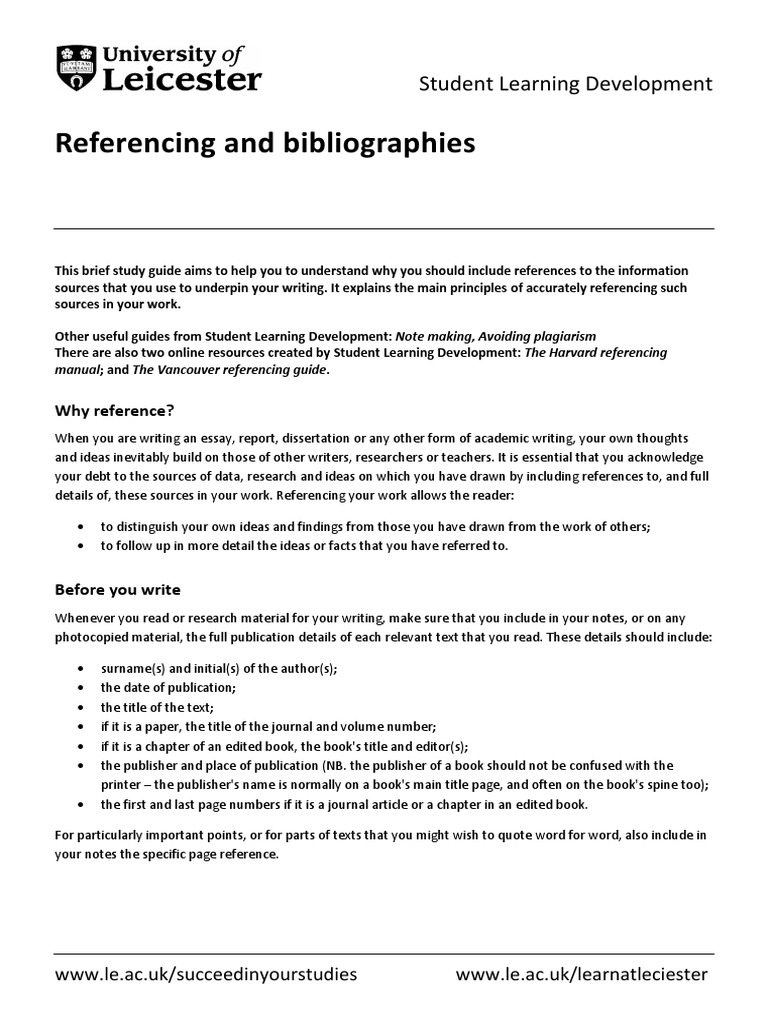 purpose of referencing in academic writing