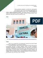 Proposta de Redação - A Democratização Do Acesso à Cultura Em Questão No Brasil