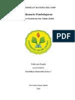 Skenario Pembelajaran Luas Permukaan dan Volume Balok