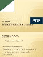Intensifikasi Sistem Budidaya