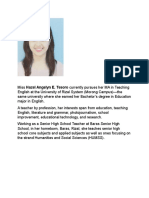 Hazel Angelyn E. Tesoro - Bio for Arcler