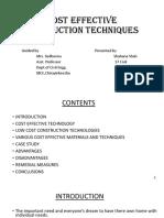 Cost Effective Costruction Techniques