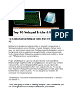 Top 10 Super Cool Notepad Tricks, Hacks & Commands for Your PC » TechWorm