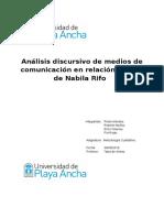 Análisis Discursivo de Medios de Comunicación en Relación Al Caso de Nabila Rifo
