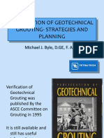 Verification of Geotechnical Grouting - Strategies and Planning