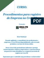 Procedimentos para registro de empresas