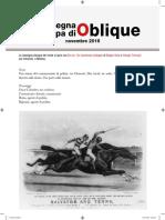 La rassegna stampa di Oblique, novembre 2016
