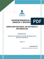 tarifas del sistema financiero Ecuatoriano