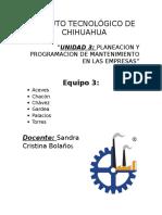 Planeacion y Programacion de Mantenimiento en Las Empresas
