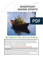 Riverfront Marine Sports December 2016 Newsletter