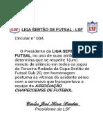 2ª COPA SERTÃODE FUTSAL SUB20 - LUTO