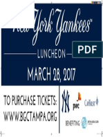 New York Yankees Luncheon Billboard