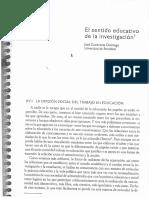 Jose Contreras El Sentido Educativo de La Investigación 1