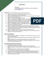 asma tabassum resume