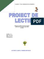 Proiect Lectie Mat