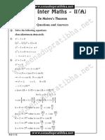 Demoivres Theorem
