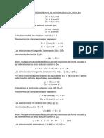 Ejemplos de Sistemas de Congruencias Lineales