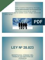 Capacitacion Ley 20.823