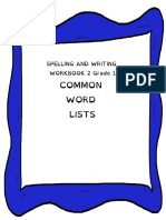 Sight Words Reading Lists