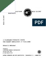McFarland--A Standard Kinematic Model for Flight Simulation at NASA-Ames--NASA CR 2497