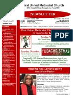 Newsletter for December 2015