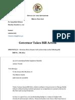 Gov. Bruce Rauner's CPS teacher pension veto message, Dec. 1, 2016