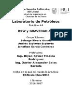 P3 Contenido BSW y Gravedad API