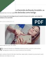 Hay Un Detenido Por El Femicidio de Brenda Arnoletto_ Se Autoincriminó Cuando Declaraba Como Testigo - 30.11