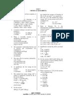 Unit7 Chemical Equilibrium Qns
