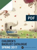 UK Chronicle Books Spring 2017 Children's Backlist Catalogue